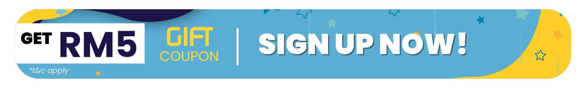 Sign up now & Get RM5 Discount Coupon