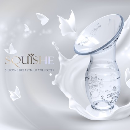 Milk Planet Squishe Silicone Breastmilk Collector with Suction Base